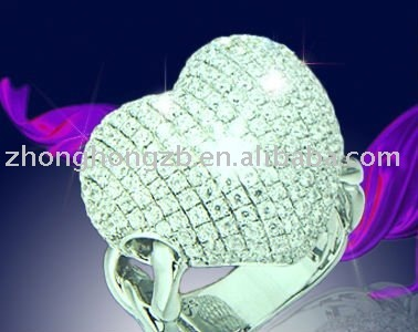 Micro pave setting jewelry,high quality ring with cz