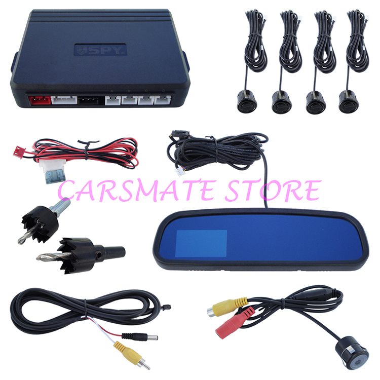 Good Quality SPY Car Parking Sensor System With 3.0 Inch TFT Display Rearview Mirror And 4 Sensors(China (Mainland))