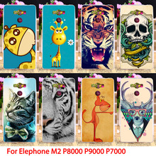 Soft TPU Animal phone Cases For Elephone P8000 M2 P7000 P9000 5.5 inch Cover Dog Lion Owl Tiger Colorful Housings Hood Skin Bag(China (Mainland))