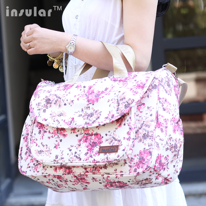 High Quality Multifunctional Diaper Bags Maternity Mummy Nappy Bags Flower Style Mom Handbag Baby Stroller Bag