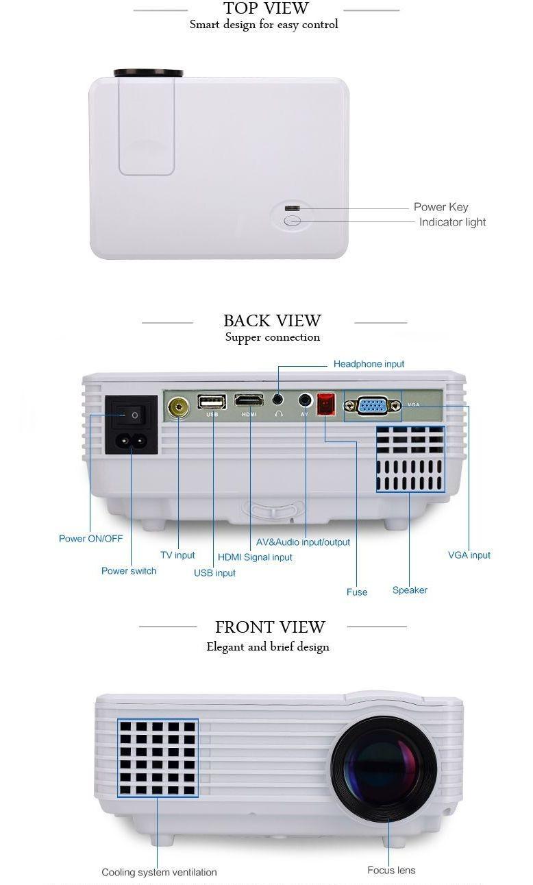 Buy best native 800 480 lx 800 lcd mini projector hd for Mini projector best buy