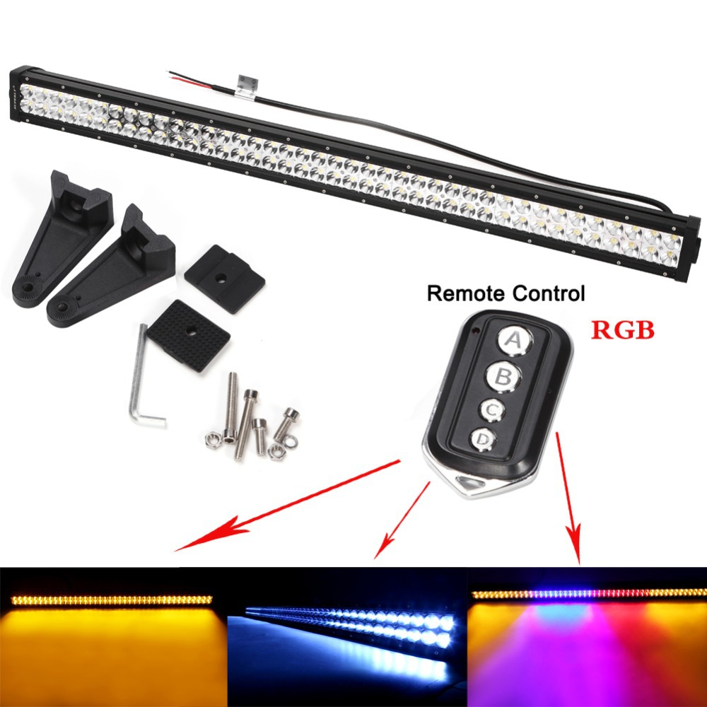 240W LED Work Car Double Color lamp Light Bar Off-Road 9-32V Boat 80-LEDSpot Flood Combo Beam Truck Lamp Local USA Shipping(China (Mainland))