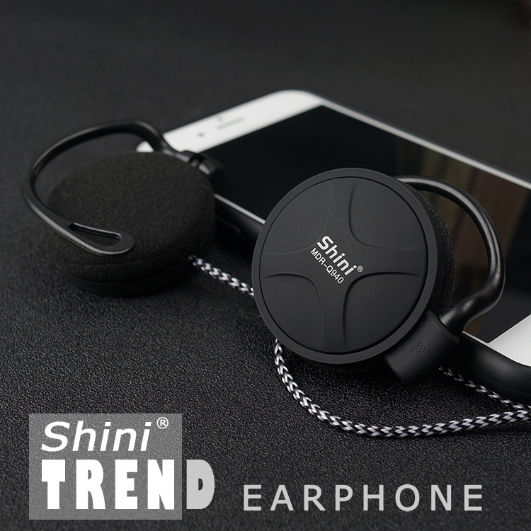 ShiniQ940 Free Shipping Headphones 3.5mm Headset EarHook Earphone For Mp3 Player Computer Mobile Telephone Earphone Wholesale(China (Mainland))