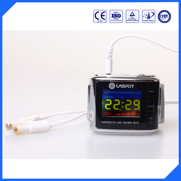 Home Health Care Equipment physical wrist watch semiconductor Blood irradiation 650nm lllt laser therapy apparatus