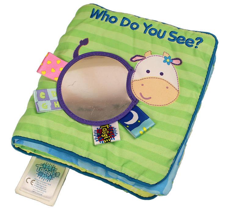 3D Early Developmen baby taggies child cloth books safety mirror - Leonard yu's store