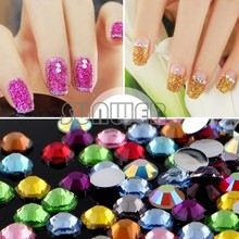 30000 pcs Mix Color Teardrop Nail Art Gems Rhinestones Deco Glitters Beautiful decoration 35(China (Mainland))