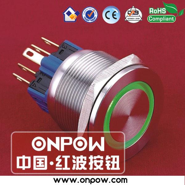 ONPOW 25mm super flat ring illuminated pushbutton switch GQ25PF-11E/G/12V/S(China (Mainland))