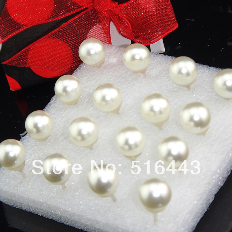 Hot Selling 96pcs(48pairs) White Pearl Womens Charms Stud Earrings Fashion Jewelry A-2007 - Edna store