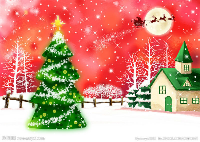 MC145 Printed poster oil painting on canvas wall art pictures as unique gifts snow doll & Santa Claus & Merry Christmas(China (Mainland))