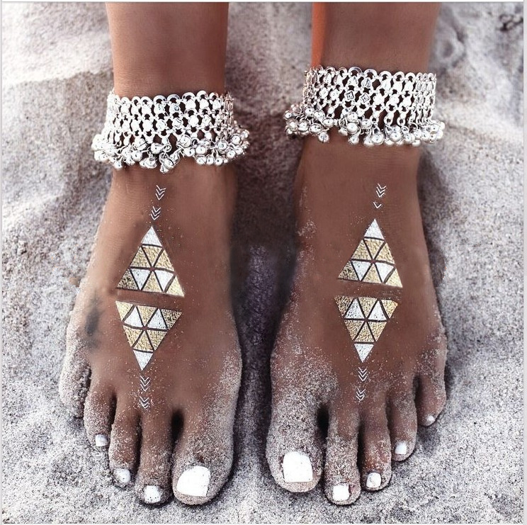 1Pcs Boho Bohemian Anklet For Women Tassel Bell Ankle Bracelet Fashion Barefoot Sandals Pulseras Tobilleras Mujer Foot Jewelry(China (Mainland))