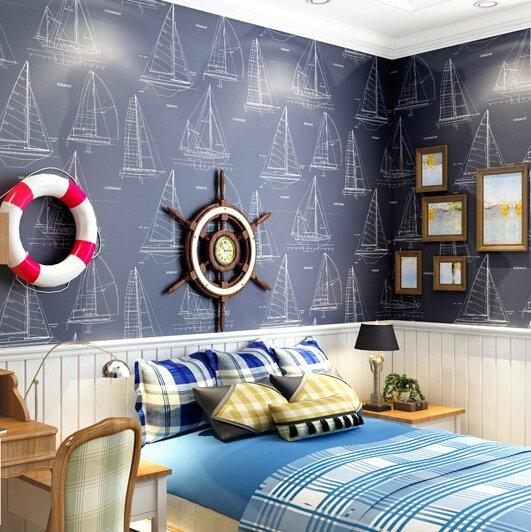 torneira para bancada Children in the Mediterranean real non-woven wallpaper boys and girls bedroom blue sailboat wallpaper aces(China (Mainland))