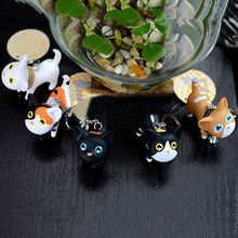 New Cute Cat Kitten Keychains Keyrings HandBags Pendant Ornament Kid Toy Gift On Car