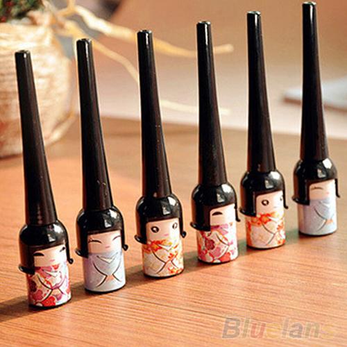 Black Waterproof Cute Doll Eyeliner Liquid Pen Makeup Cosmetic Eye Liner  4DYV