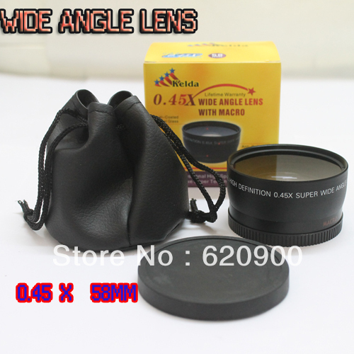 100% GUARANTEE 10 PCS 0.45x Wide Angle Soft Fisheye + Macro for 52MM Nikon D80 D90 D3200 18-55mm Lens