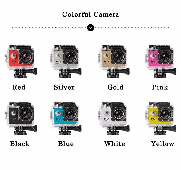 ถูก SJ 1080จุดHDกล้องแอคชั่นกีฬามินิผ่านกล้องกันน้ำDVมินิกล้องหมวกกันน็อคGoproสไตล์ไปโปรที่มีหน้าจอน้ำทน