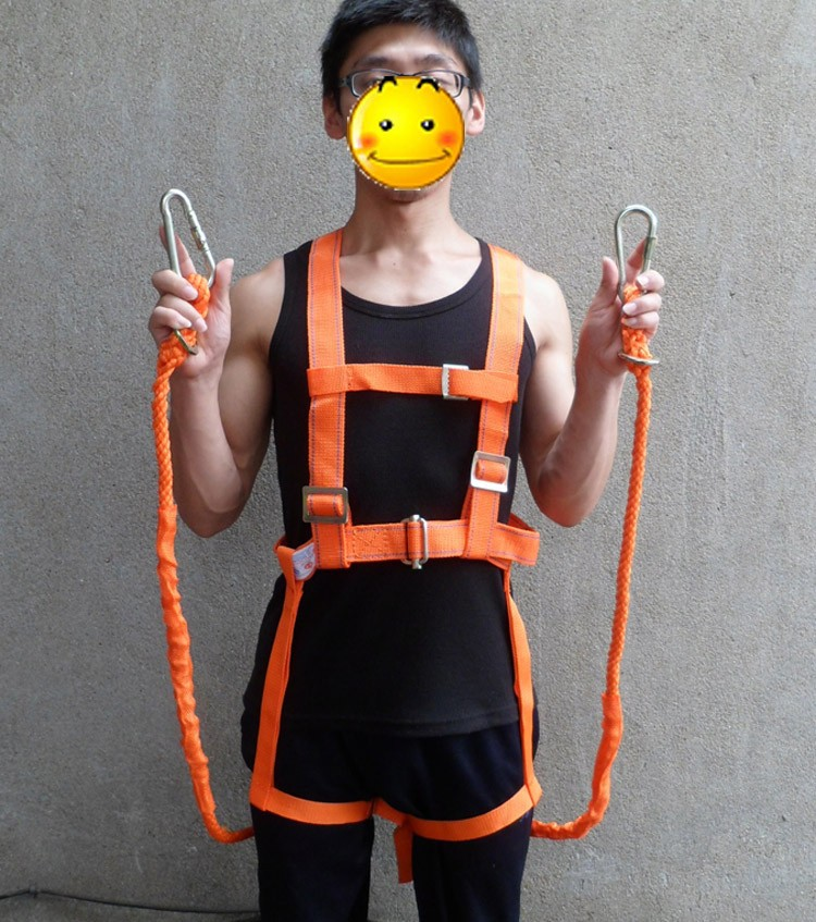 5M Mountain Climbing Security Rope Working Aloft Protective Belt Safety Harness Workplace Safety Supplies(China (Mainland))