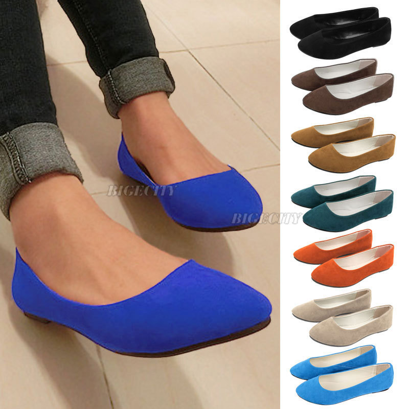 Гаджет  2014 Fashion New Ladies Ballerina Dolly Microsuede Womens Slippers Flat Shoes Cindy  Color  None Обувь