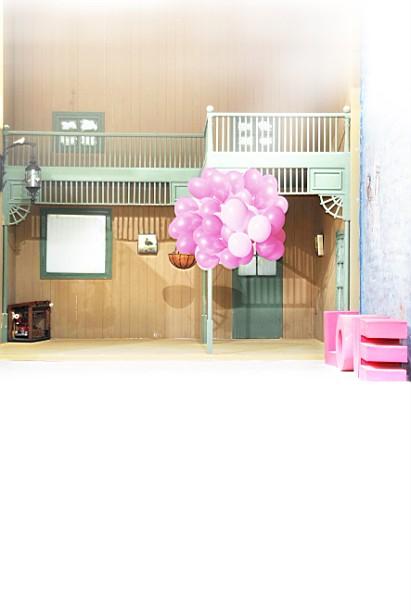 New arrival Background fundo Wooden loft balloon 600CM*300CM width backgrounds LK 2797<br><br>Aliexpress