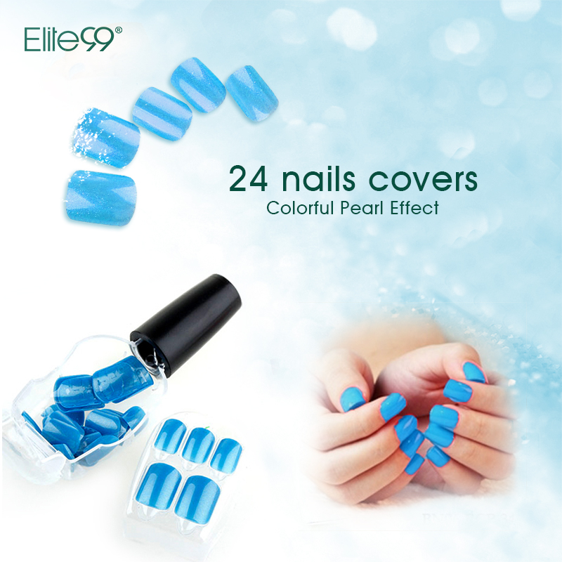 Elite99 False Nail Tips Press On Manicure Beauty Nail Art No Glue Needed Choose 1 Color