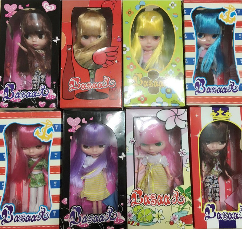Free Shipping Top discount Basaak plastic doll with box DIY icy Blyth Doll Cheapest limited gift special price cheap offer toy(China (Mainland))
