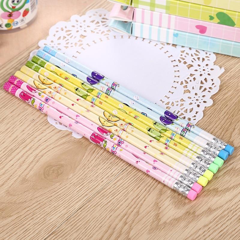1PCS Cute Cartoon Kawaii Hello Kitty Bear HB Wooden Standard Pencil For Kids Student Gift School Supplies color sent randomly