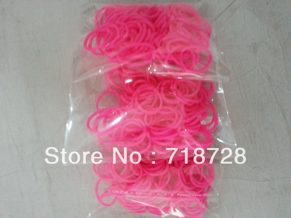 10inclouding 1C clips pink rubber Bands,Rope Ponytail Holder Elastic Hair Band - Colored bands franchise store