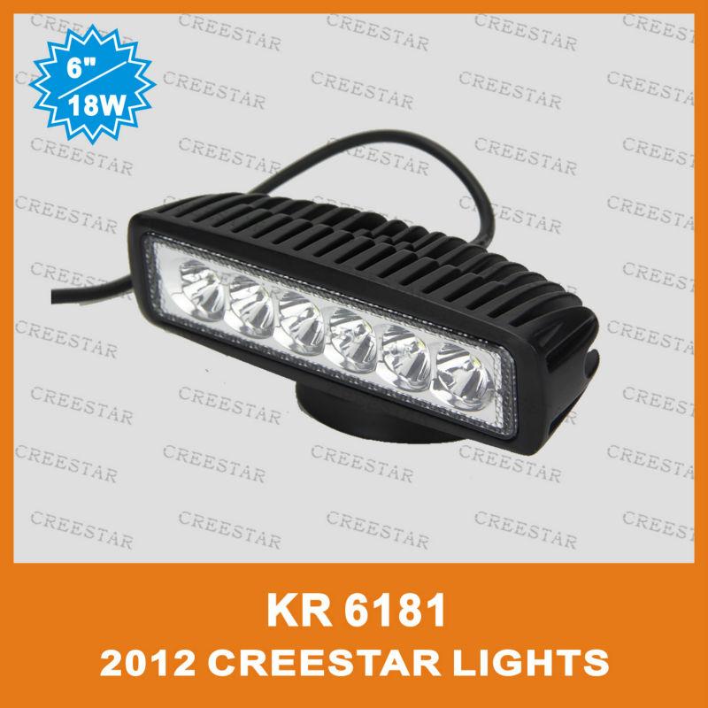 6inch Single Row Mini 18W LED work light bar 6pcs*3W PMMA LENS ATV,4X4,Truck 1150lumens led offroad driving light bar 12V24V(China (Mainland))