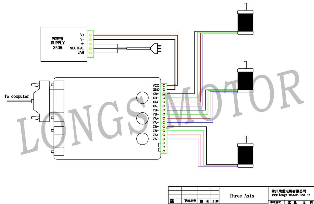 longs stepper motor wiring diagram longs image nema 23 stepper motor 270oz in 3a 4leads 3 axis board cnc kit on longs stepper longs motor wiring diagram