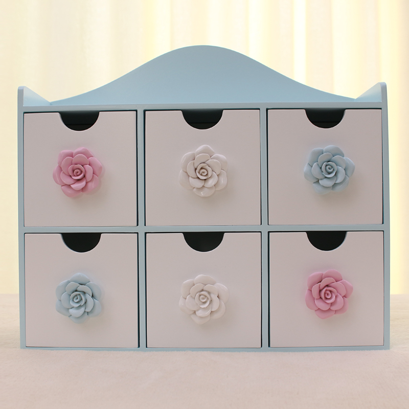 Wool multifunctional desktop finishing box drawer storage cabinet fashion cosmetic jewelry - The Yellow River store
