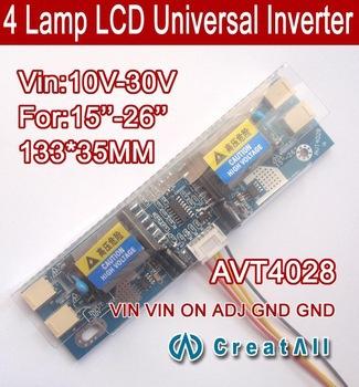 AVT4028 PC LCD MONITOR CCFL 4 LAMP universal lcd inverter board,4 Lamp 10V-30V 15-26 inch screen - HSM electronic Co., Ltd store