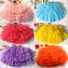 Summer 9 color girls tulle skirt girls dance tutu skirts children clothing kids clothes(China (Mainland))