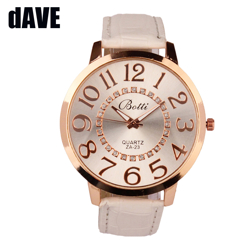 Womens Casual Wrist Watches Brand Luxury Leather Quartz Dress Watch Cheap Clock Women Royal Gold Cry