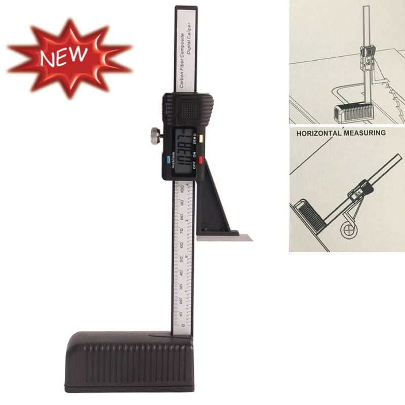 Electronic Measuring Equipment : Plastic digital height gauge mm quot with magnetic base