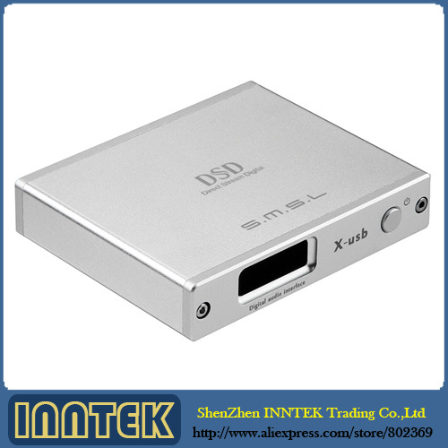 SMSL X-USB XMOS USB to Spdif Converter DAC/Support 384KHZ DSD64/DSD128 IIS (Silver) , Free Shipping(China (Mainland))