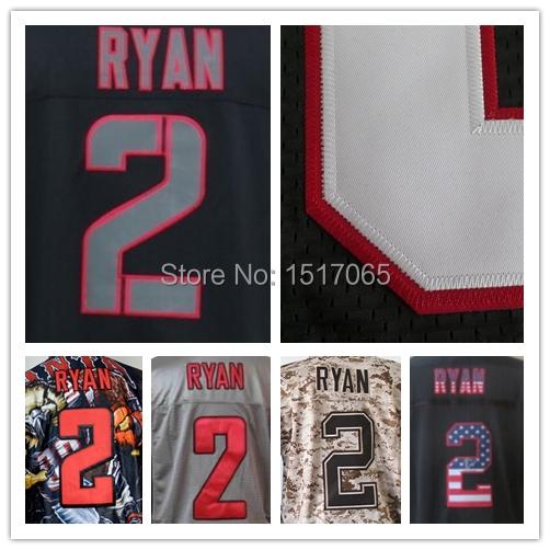Cheap Top Quality Mens #2 Matt Ryan Jersey Falcon Elite 100%Stitched Logos Authentic sport shirt American Football Jersey(China (Mainland))
