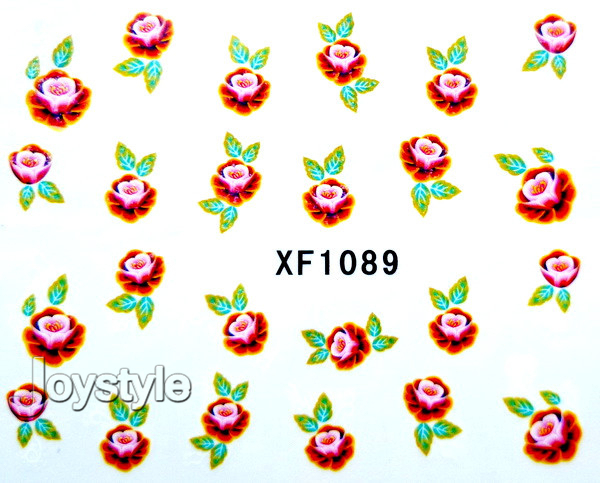 35 piece Designs Flower Water Decals Butterfly Water Transfer Nail Stickers New 1 Month does not fade Free Shipping