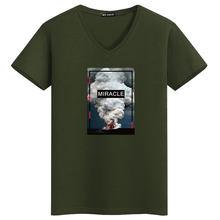 MYDBSH бренд Для мужчин/Для женщин эластичные хлопковые топы тройники мода извержение вулкана футболки с принтом Для мужчин; уличная Hipster чудо ...(China)