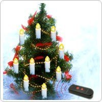 FREE SHIPPING+10-in-1 Wireless Remote Control Christmas Tree LED Candles with ABS Plastic +Christmas Decoration
