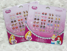 Wholesale 10 sheets 240 pairs  stick-on OF GIRL STICK ON earrings Crystal ear nail stick Cartoon STICKERS S#0037(China (Mainland))
