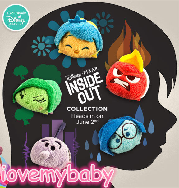 """Tsum Tsum Exclusive Pixar Inside Out ANGER JOY FEAR DISGUST SADNESS 3.5"""" Mini Plush Toy Screen Wipe(China (Mainland))"""