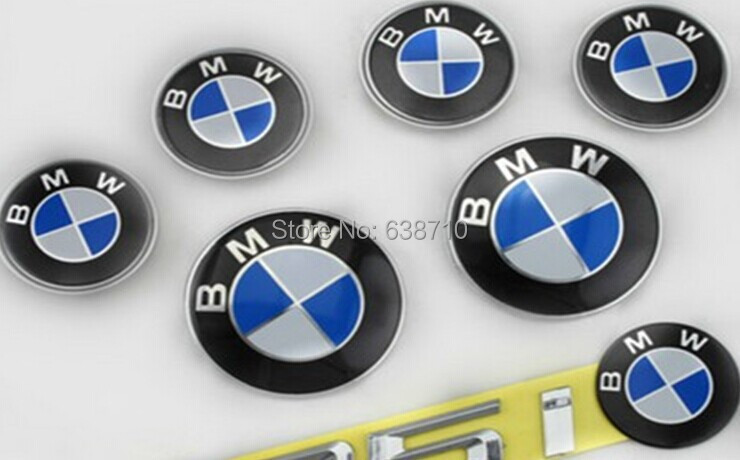 NEW ! Car emblem ,7 Sets,Wheel cover,Steering wheel,modification blue / white frees hipping - yuanhong ma's store