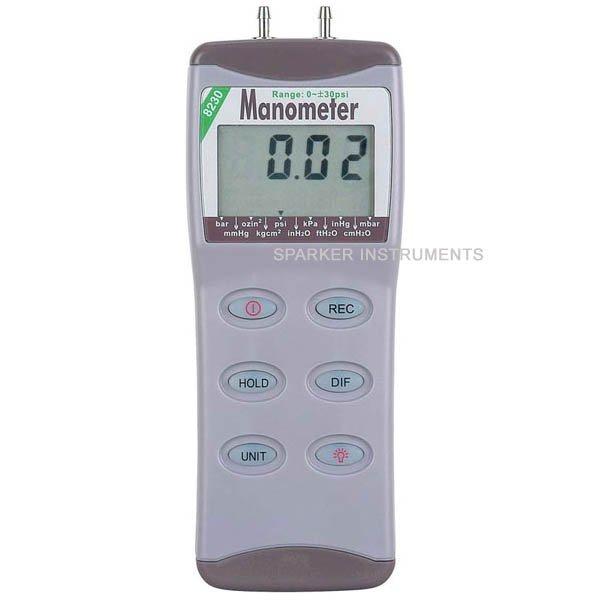 AZ-82100 Digital Manometer Differential Air Pressure Meter Gauge Tester 0-100psi