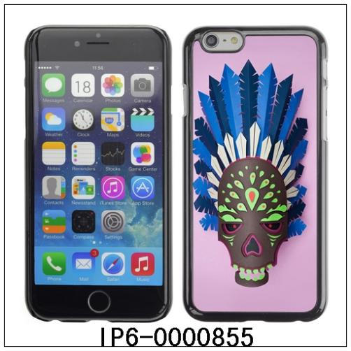 Indian Skull Mask-FOR iPhone 6 Plastic Hard Back Case Cover Shell For iPhone6 (IP6-0000855)(China (Mainland))