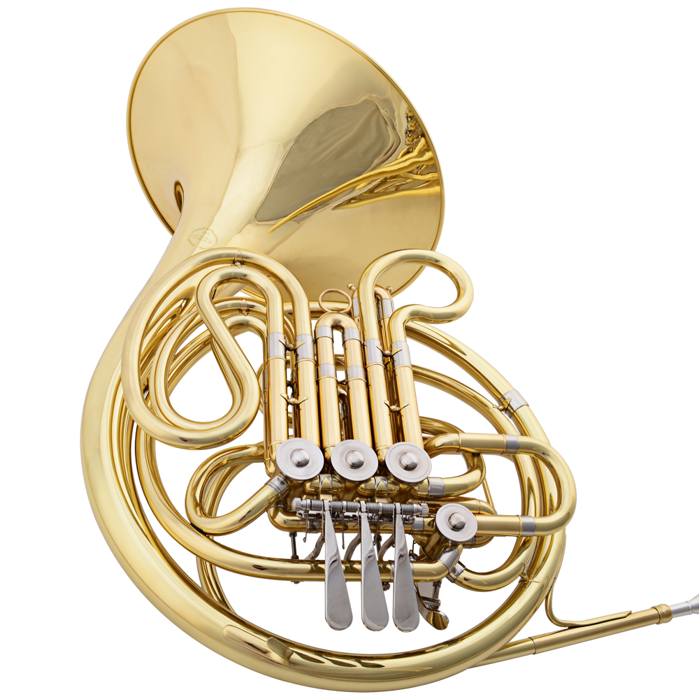 2015 New JAZZOR 4-key Double French Horn Entry Model Bb/F Wind Instruments French Horns JZFH-E310 Monel valves with padded box(China (Mainland))