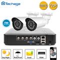 Techage HD 4CH 720P AHD DVR CCTV System Kit 1 0MP 1200TVL Video Recorder 2pcs P2P