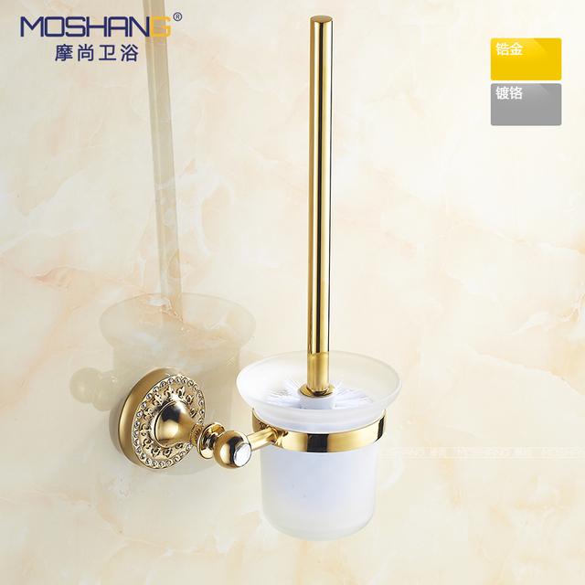 Gold Plated Toilet Brh Set Creative European Toilet Brh Cup Toilet Brh With A Toilet Brh Head