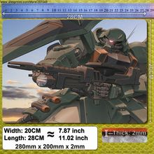 Decoration Place Pad for Anime A332 ZGMF-1000 ZAKU Warrior – Gundam Mouse Mat 280x200x2mm