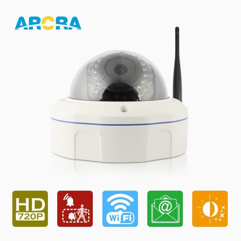 Фотография ARCRA 1.0M Wireless Camera 1280*720P 802.11 b/g/n Motion detection Email Alarm p2p cloud remote control WIFI Cameras