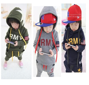 2015 New children autumn clothing set boys sports suits kids outfits baby clothes big eyes fashion(China (Mainland))