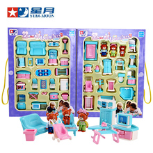 Educational Mini Miniature Furniture Toys Set Roll Play Games Toy Dolls Girls Boys Baby Children Dollhouse High Quality Plastic(China (Mainland))